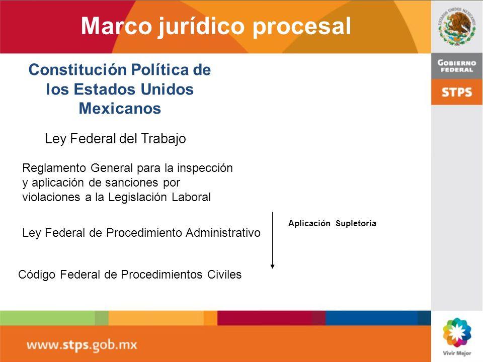 Marco jurídico procesal