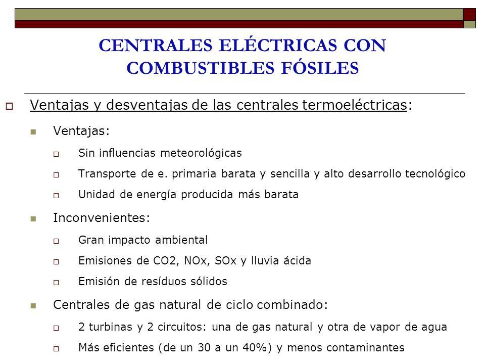 CENTRALES ELÉCTRICAS CON COMBUSTIBLES FÓSILES