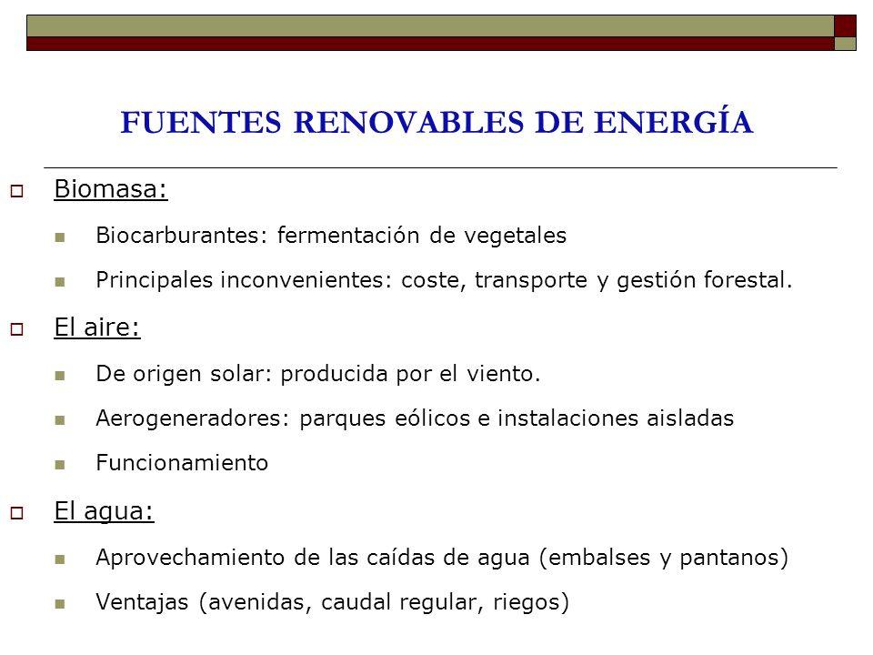 FUENTES RENOVABLES DE ENERGÍA