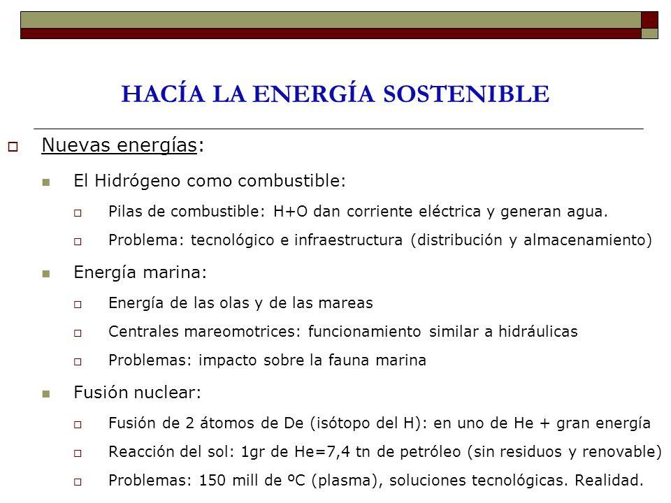 HACÍA LA ENERGÍA SOSTENIBLE