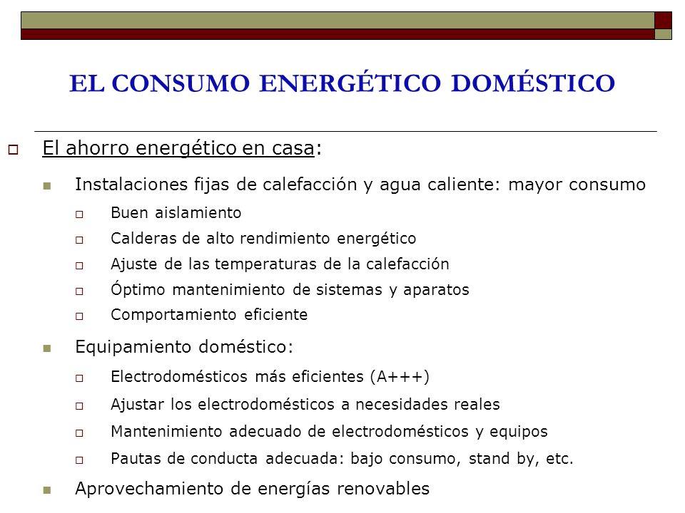 EL CONSUMO ENERGÉTICO DOMÉSTICO