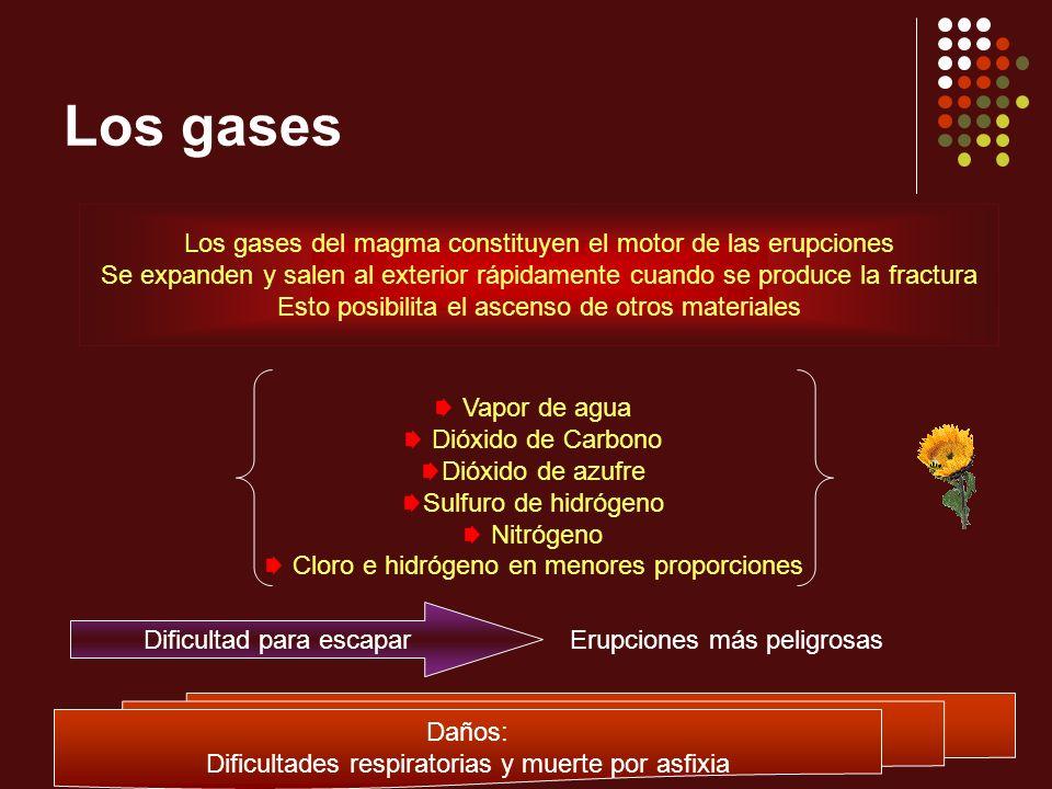 Los gases Los gases del magma constituyen el motor de las erupciones