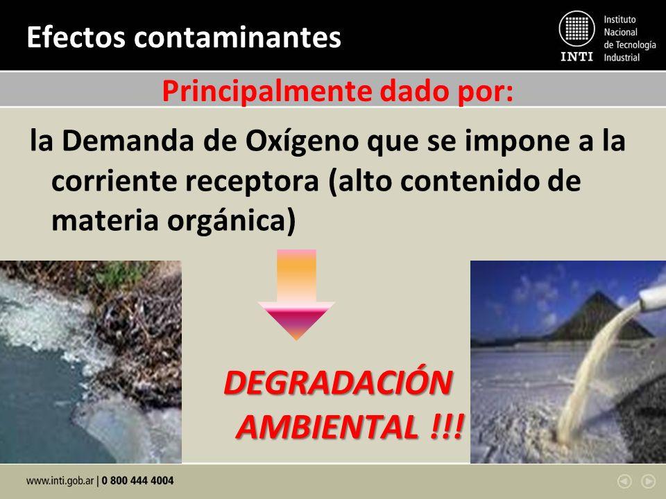 Efectos contaminantes