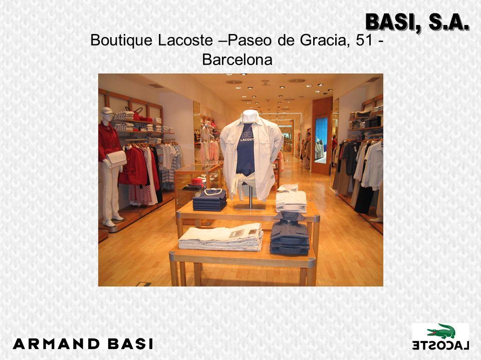 Boutique Lacoste –Paseo de Gracia, 51 - Barcelona
