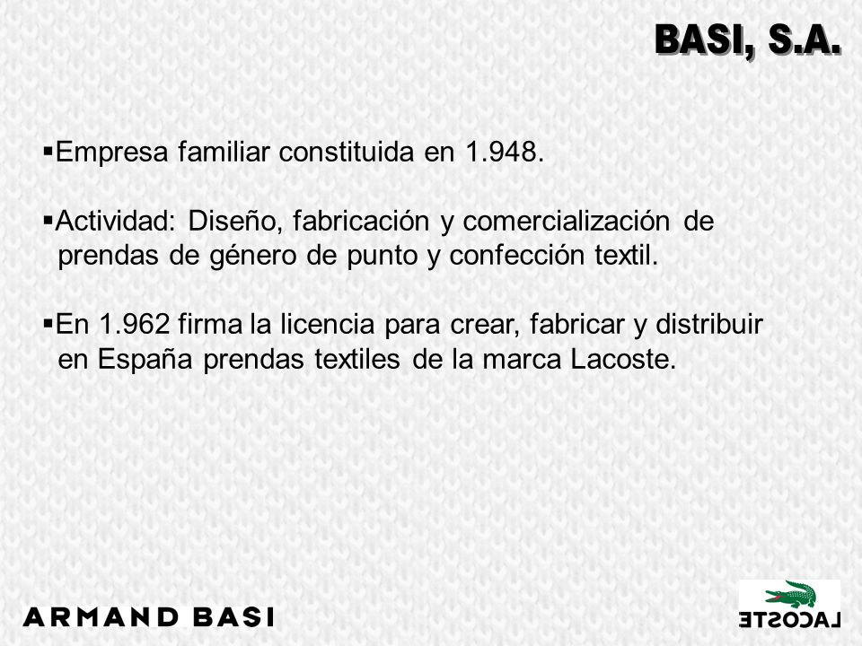 Empresa familiar constituida en 1.948.