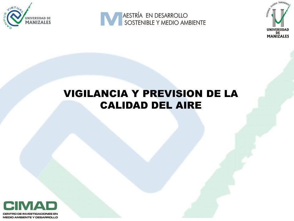 VIGILANCIA Y PREVISION DE LA CALIDAD DEL AIRE