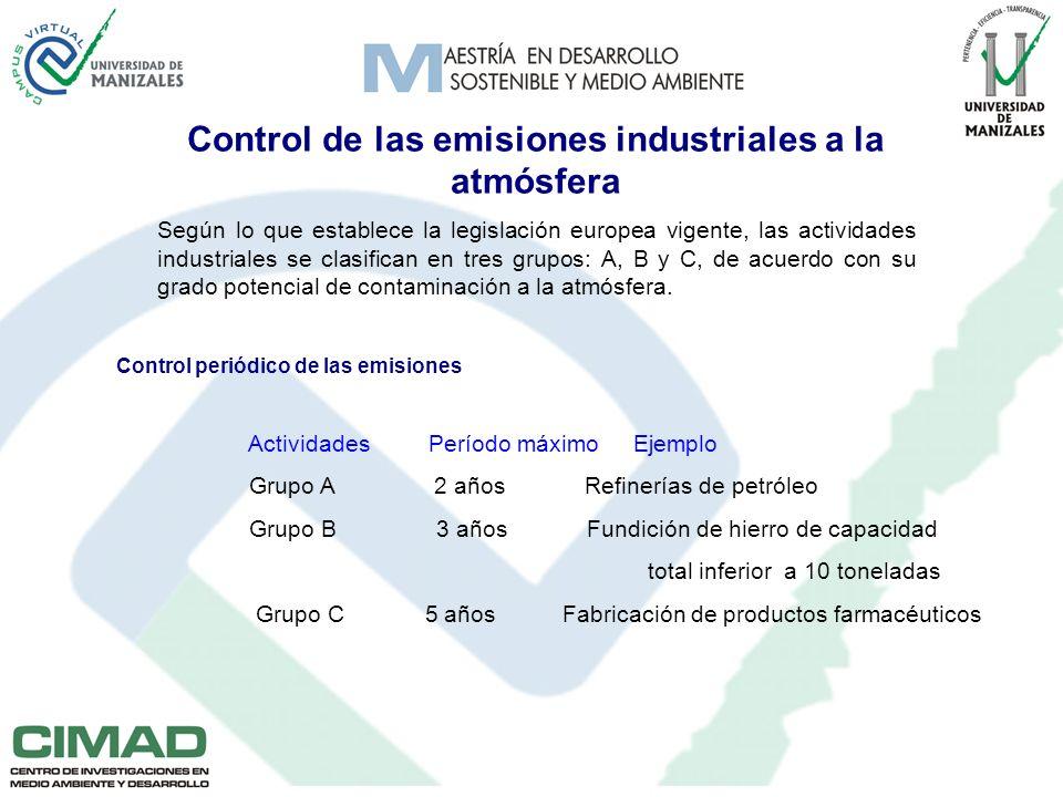 Control de las emisiones industriales a la atmósfera