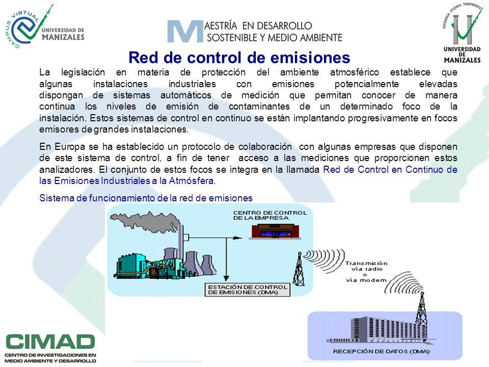 Red de control de emisiones