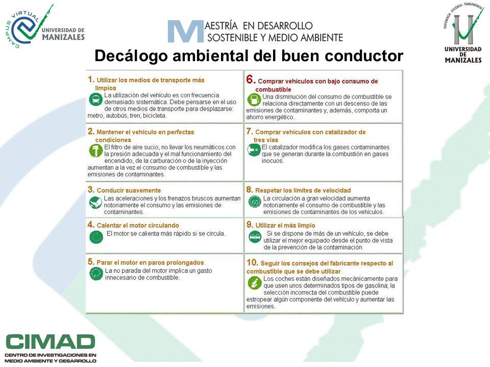 Decálogo ambiental del buen conductor