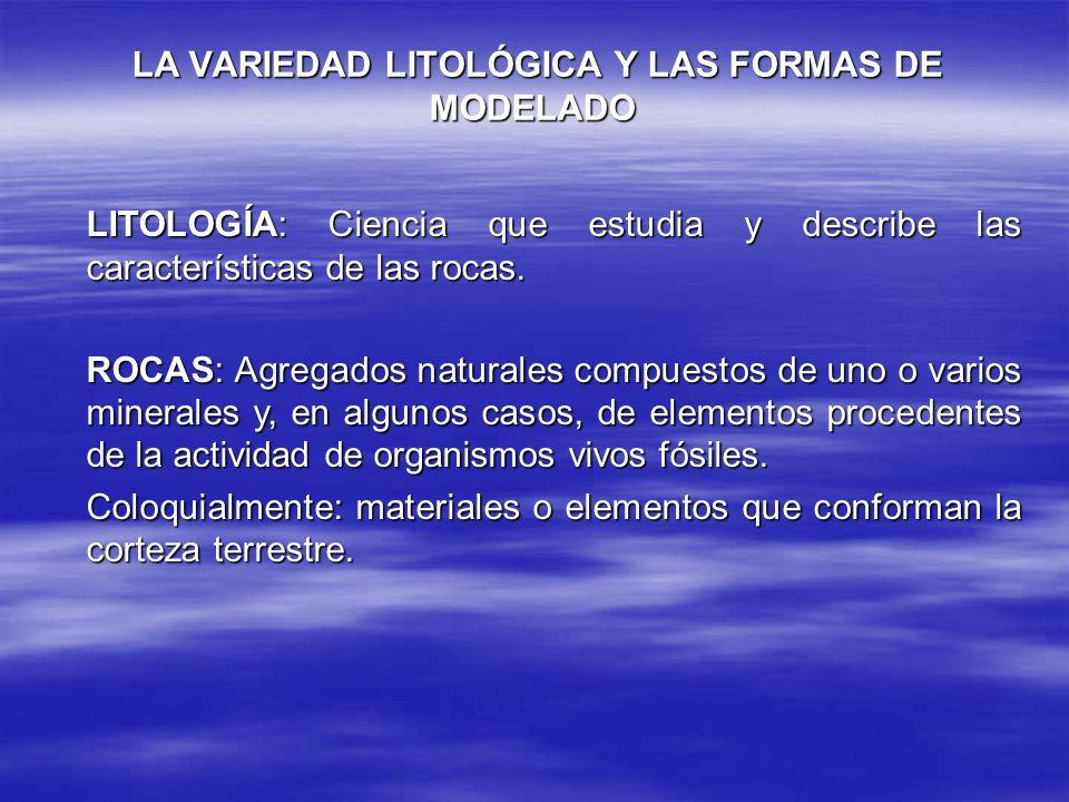 LA VARIEDAD LITOLÓGICA Y LAS FORMAS DE MODELADO