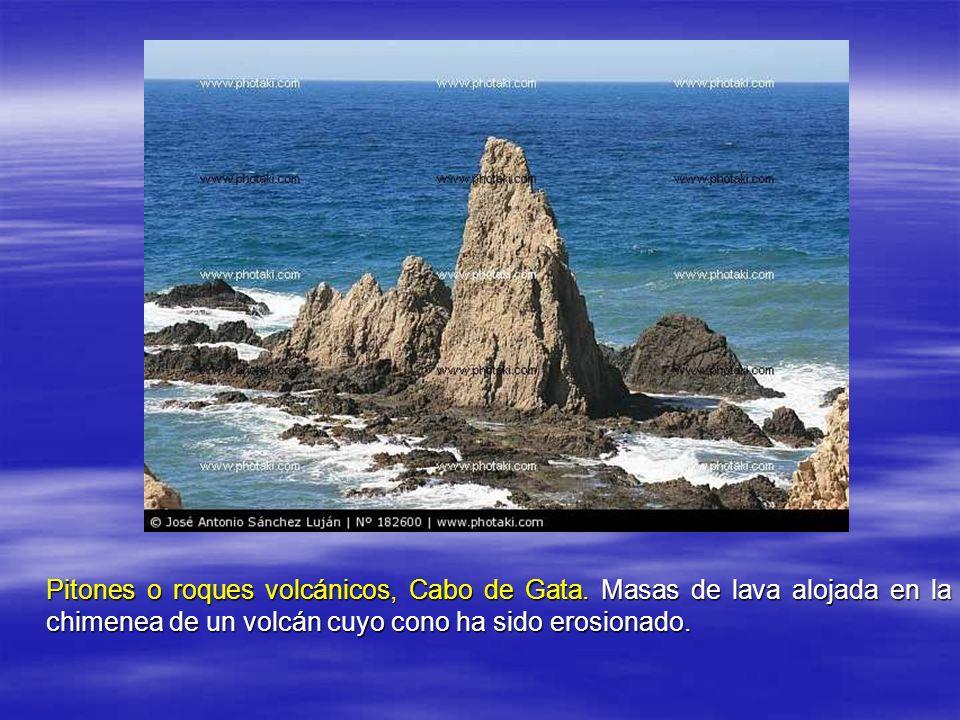 Pitones o roques volcánicos, Cabo de Gata