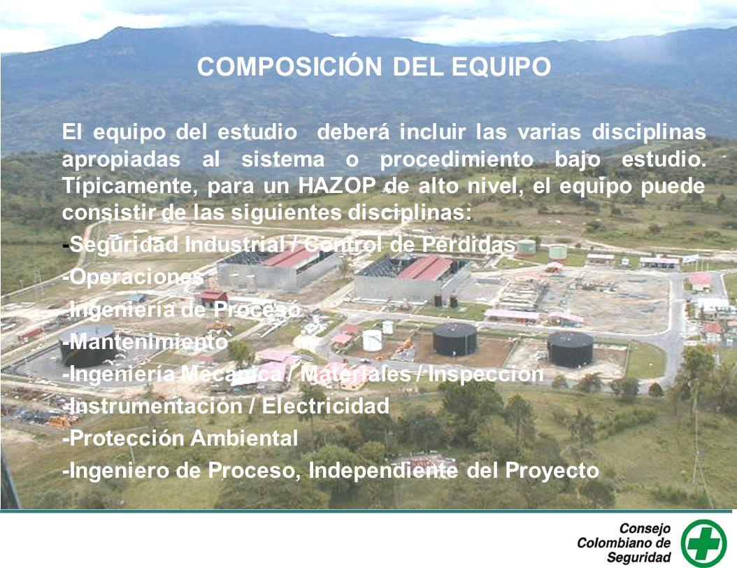 COMPOSICIÓN DEL EQUIPO