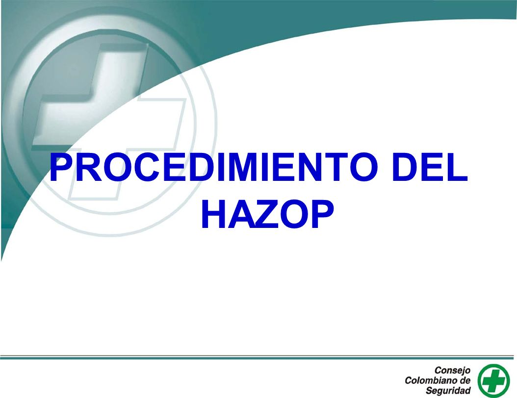 PROCEDIMIENTO DEL HAZOP