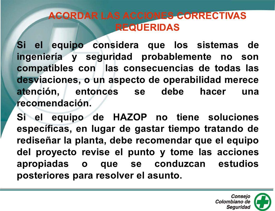 ACORDAR LAS ACCIONES CORRECTIVAS REQUERIDAS