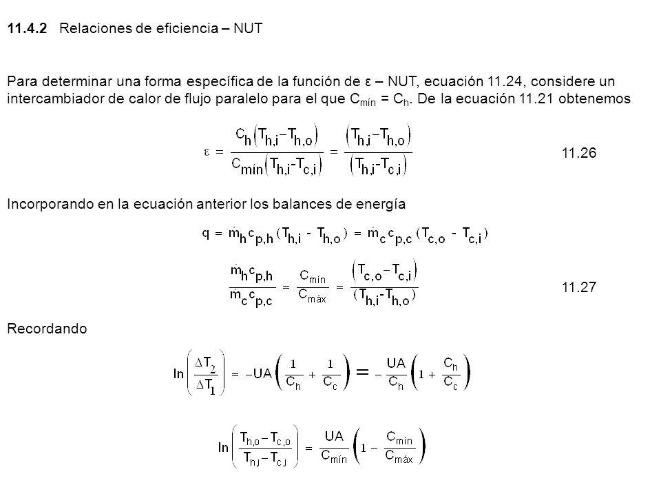 11.4.2 Relaciones de eficiencia – NUT