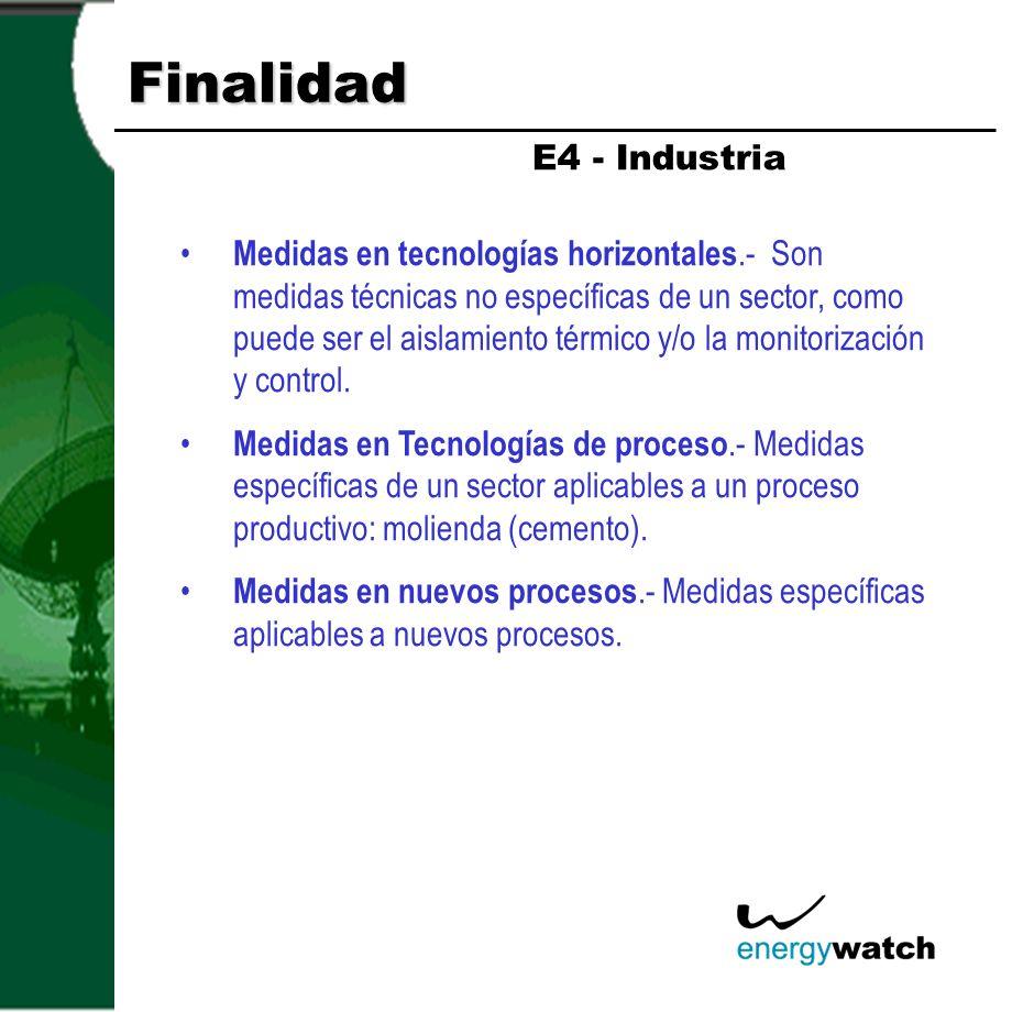 Finalidad E4 - Industria