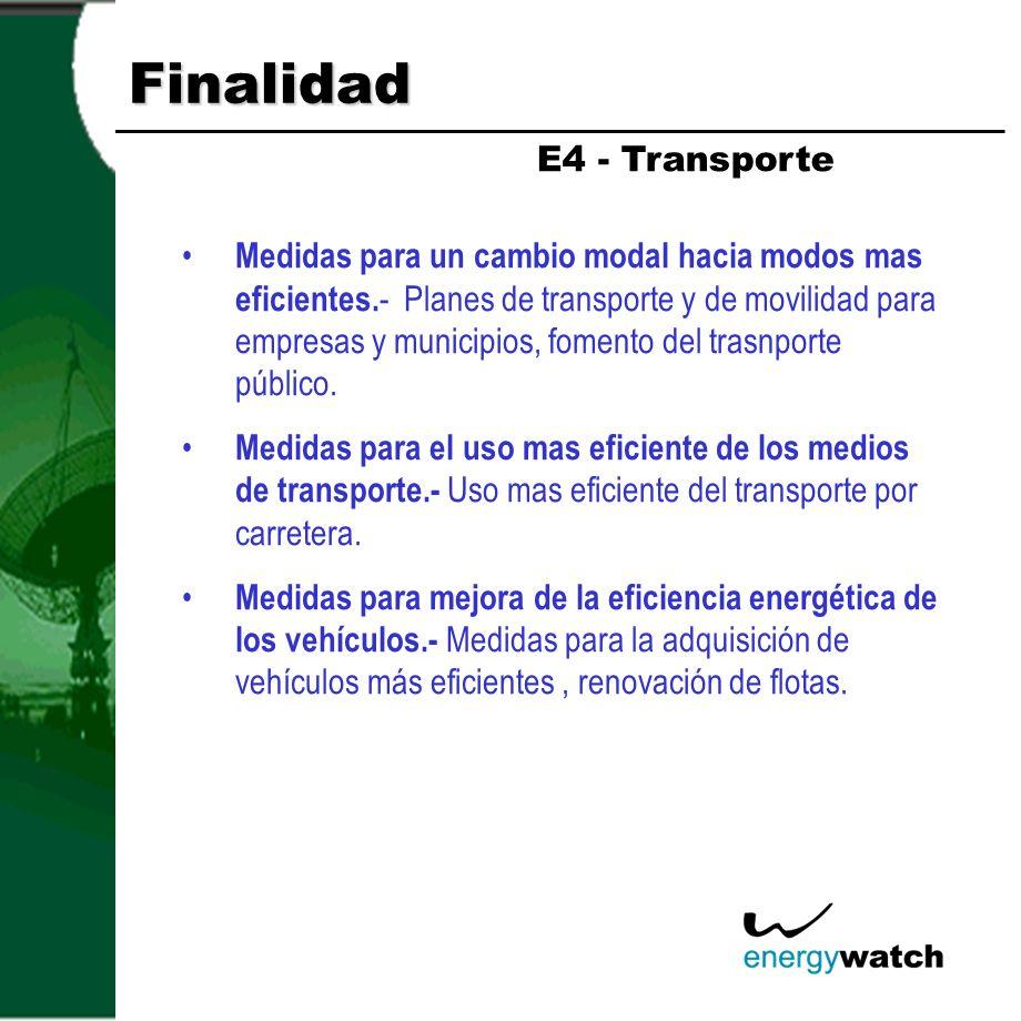 Finalidad E4 - Transporte