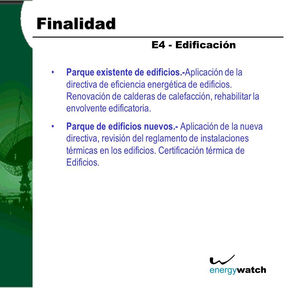 Finalidad E4 - Edificación