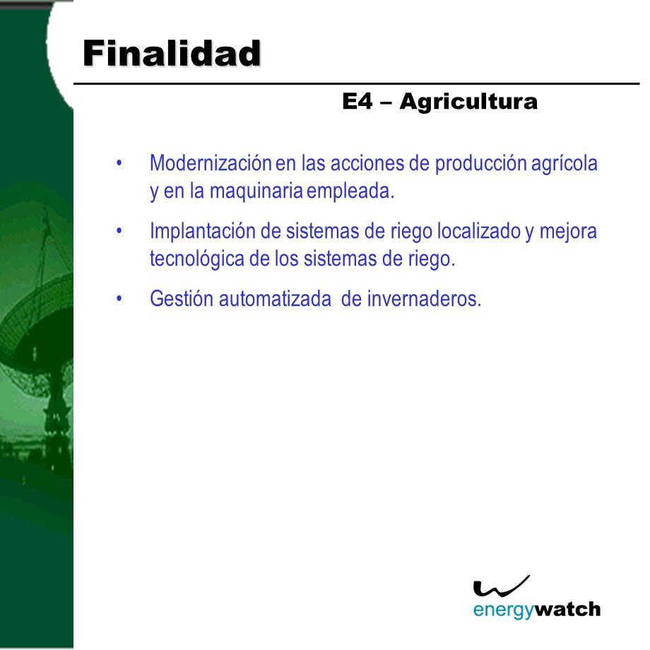 Finalidad E4 – Agricultura