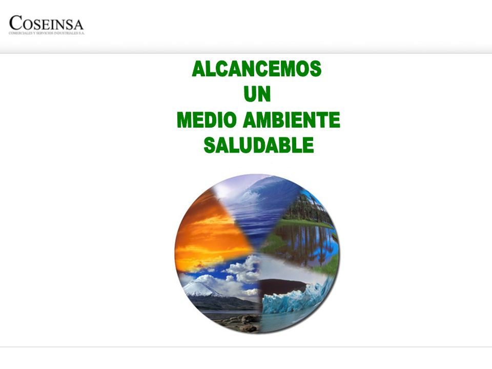 ALCANCEMOS UN MEDIO AMBIENTE SALUDABLE