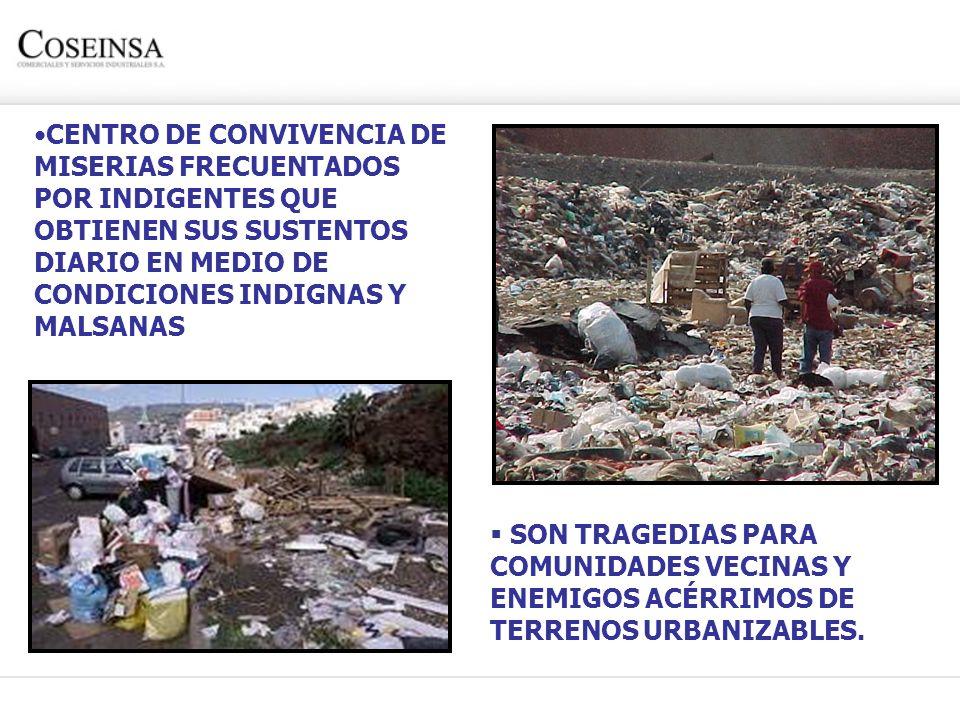 CENTRO DE CONVIVENCIA DE MISERIAS FRECUENTADOS POR INDIGENTES QUE OBTIENEN SUS SUSTENTOS DIARIO EN MEDIO DE CONDICIONES INDIGNAS Y MALSANAS