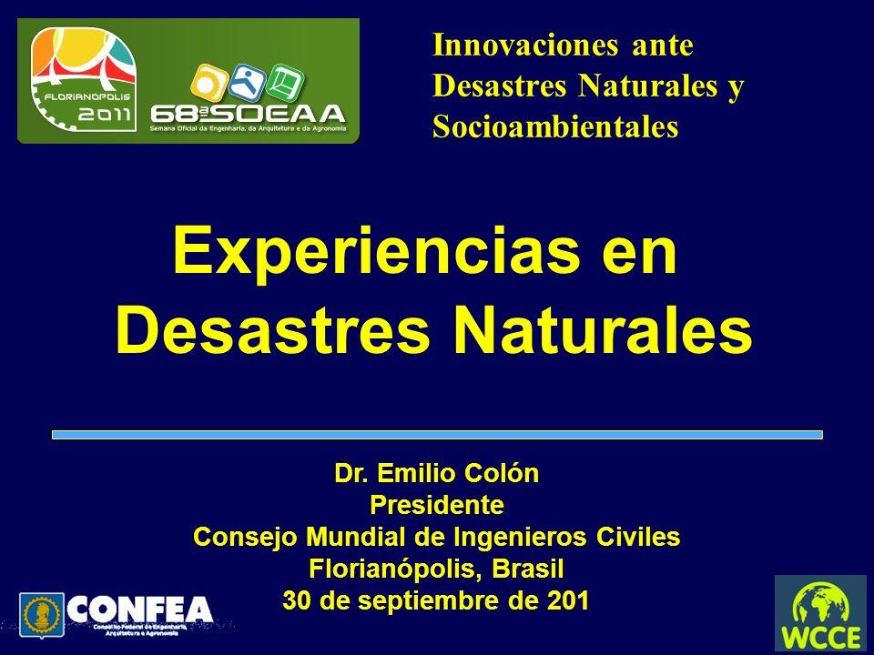 Innovaciones ante Desastres Naturales y Socioambientales