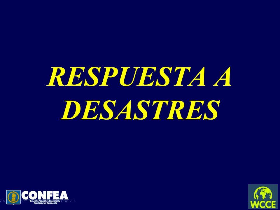 RESPUESTA A DESASTRES