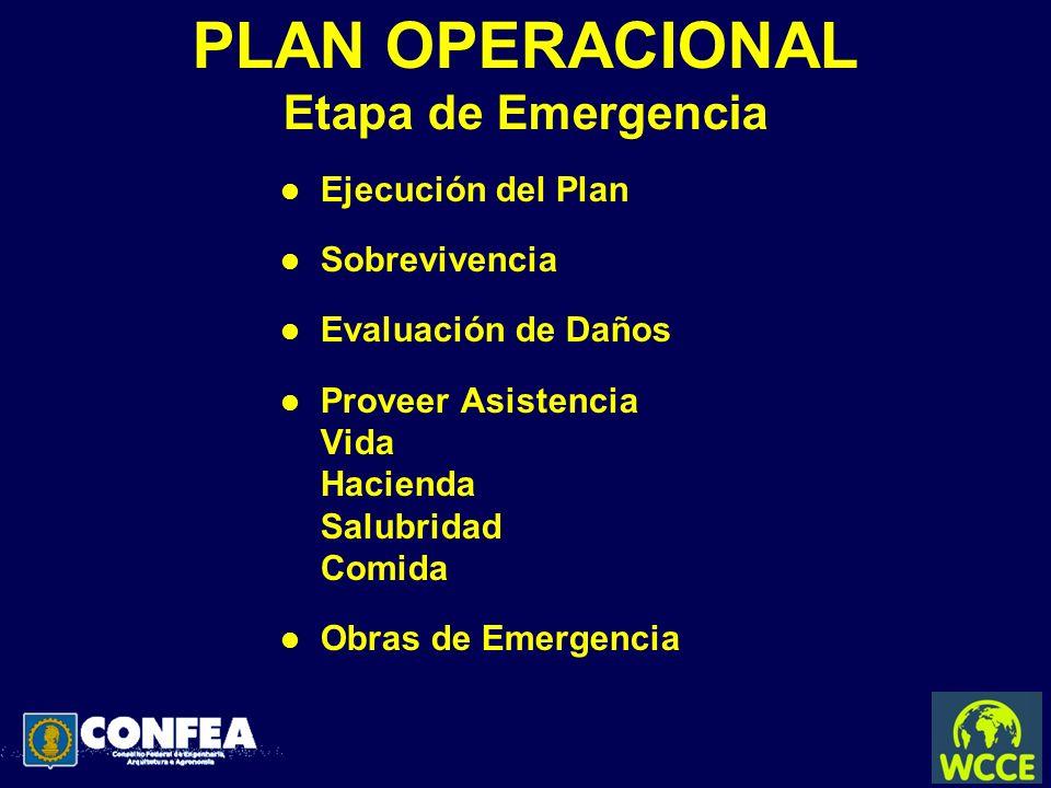 PLAN OPERACIONAL Etapa de Emergencia
