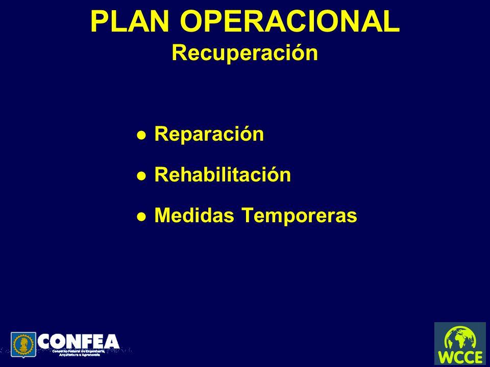PLAN OPERACIONAL Recuperación