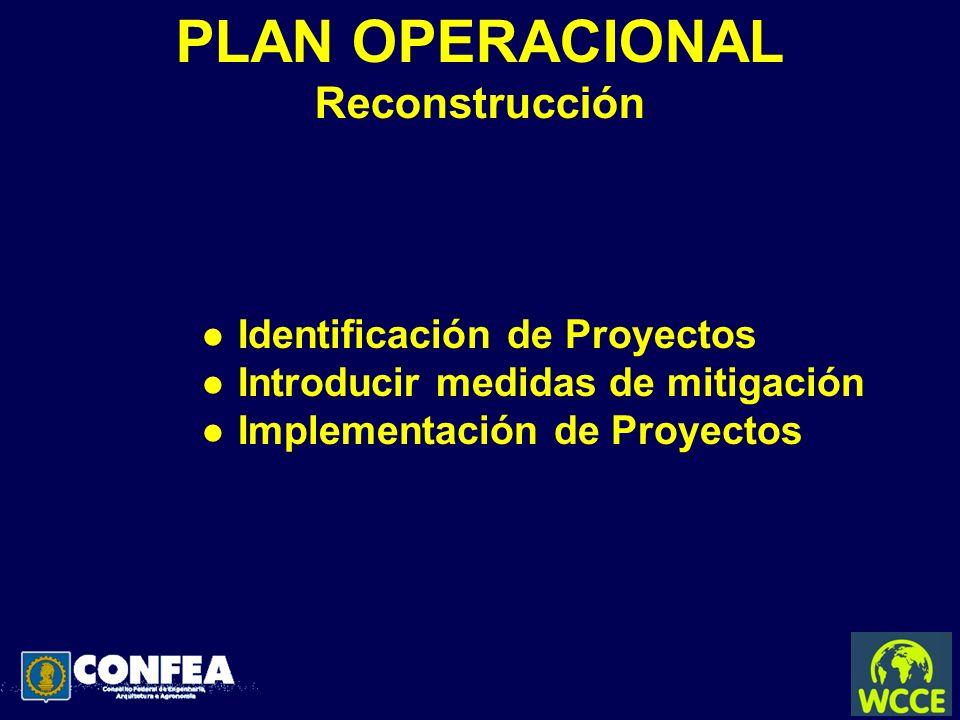 PLAN OPERACIONAL Reconstrucción