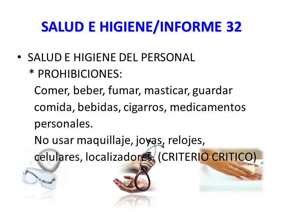 SALUD E HIGIENE/INFORME 32