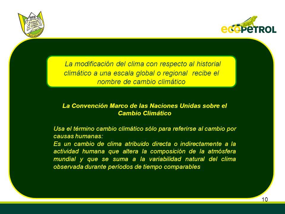 La Convención Marco de las Naciones Unidas sobre el Cambio Climático