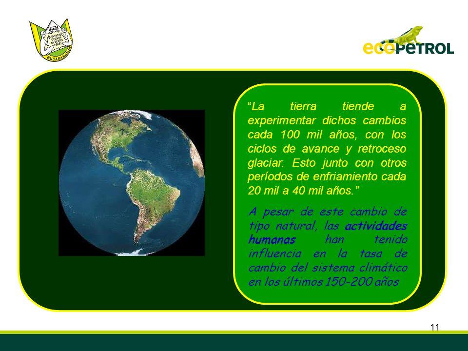 La tierra tiende a experimentar dichos cambios cada 100 mil años, con los ciclos de avance y retroceso glaciar. Esto junto con otros períodos de enfriamiento cada 20 mil a 40 mil años.