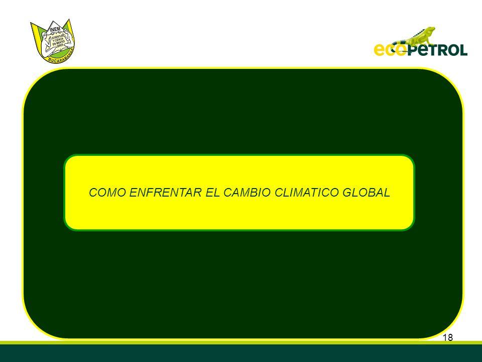 COMO ENFRENTAR EL CAMBIO CLIMATICO GLOBAL