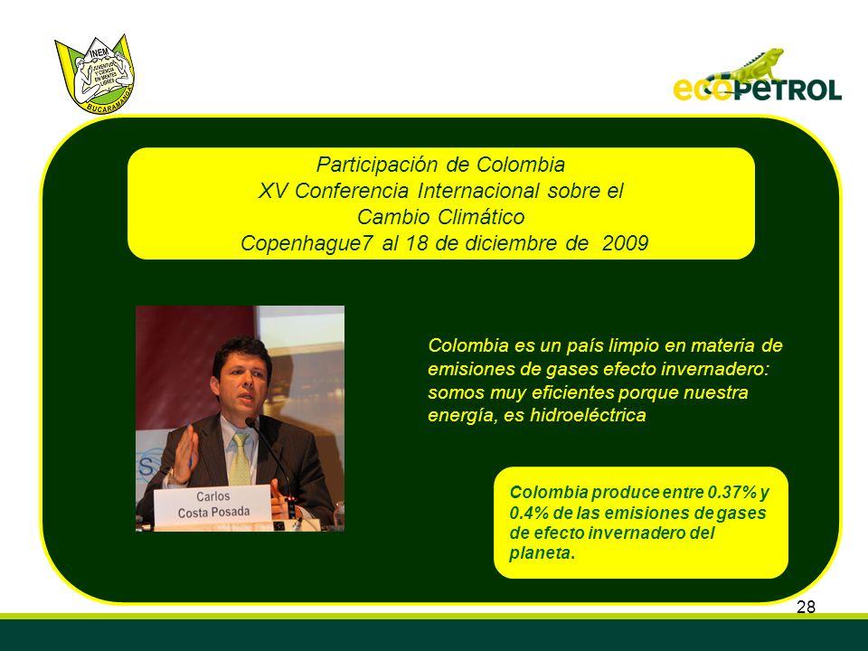 Participación de Colombia XV Conferencia Internacional sobre el