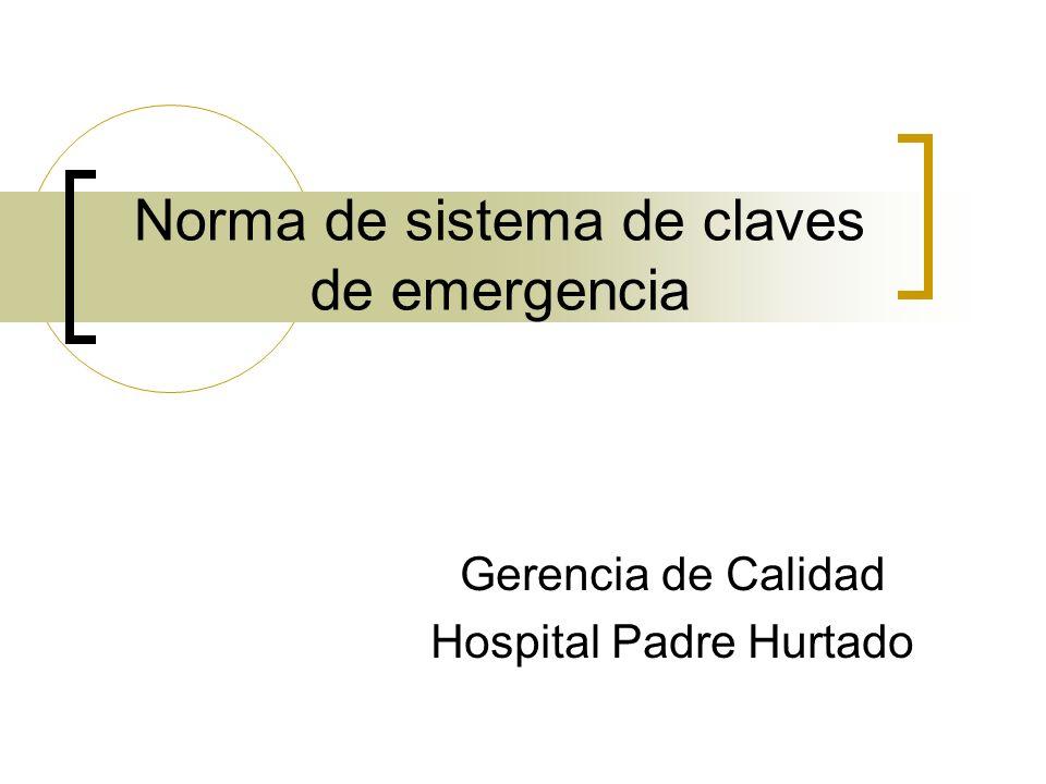 Norma de sistema de claves de emergencia