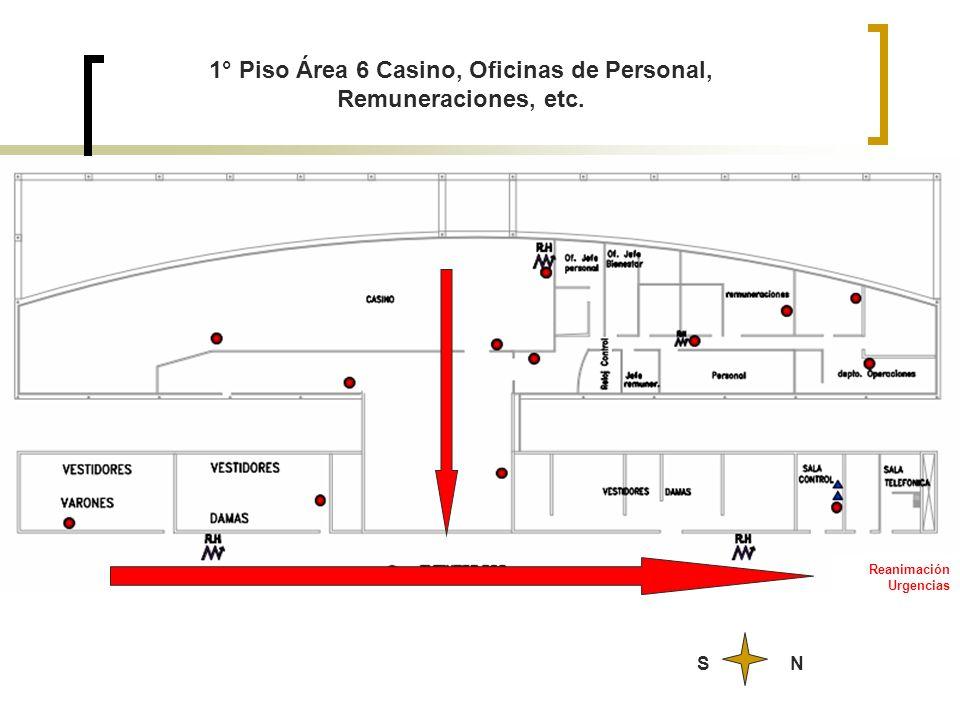 1° Piso Área 6 Casino, Oficinas de Personal, Remuneraciones, etc.