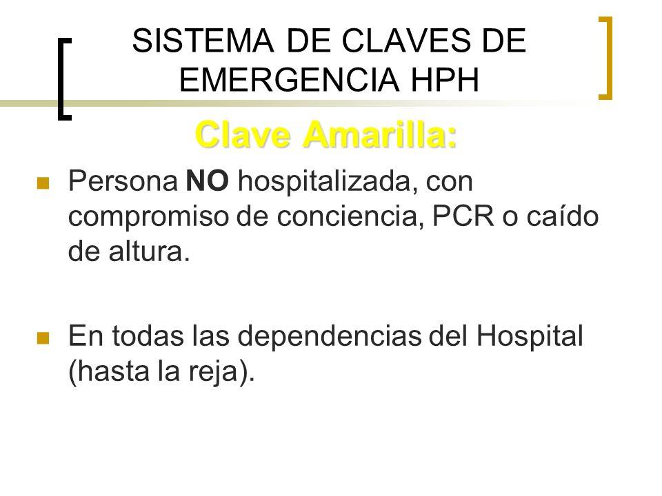 SISTEMA DE CLAVES DE EMERGENCIA HPH