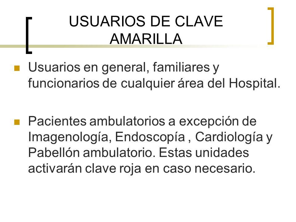 USUARIOS DE CLAVE AMARILLA