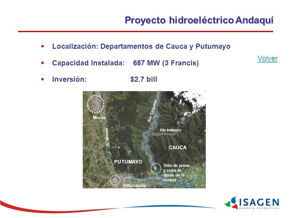 Proyecto hidroeléctrico Andaquí