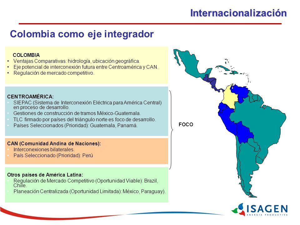 Colombia como eje integrador
