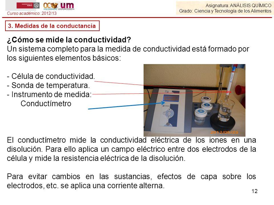 ¿Cómo se mide la conductividad