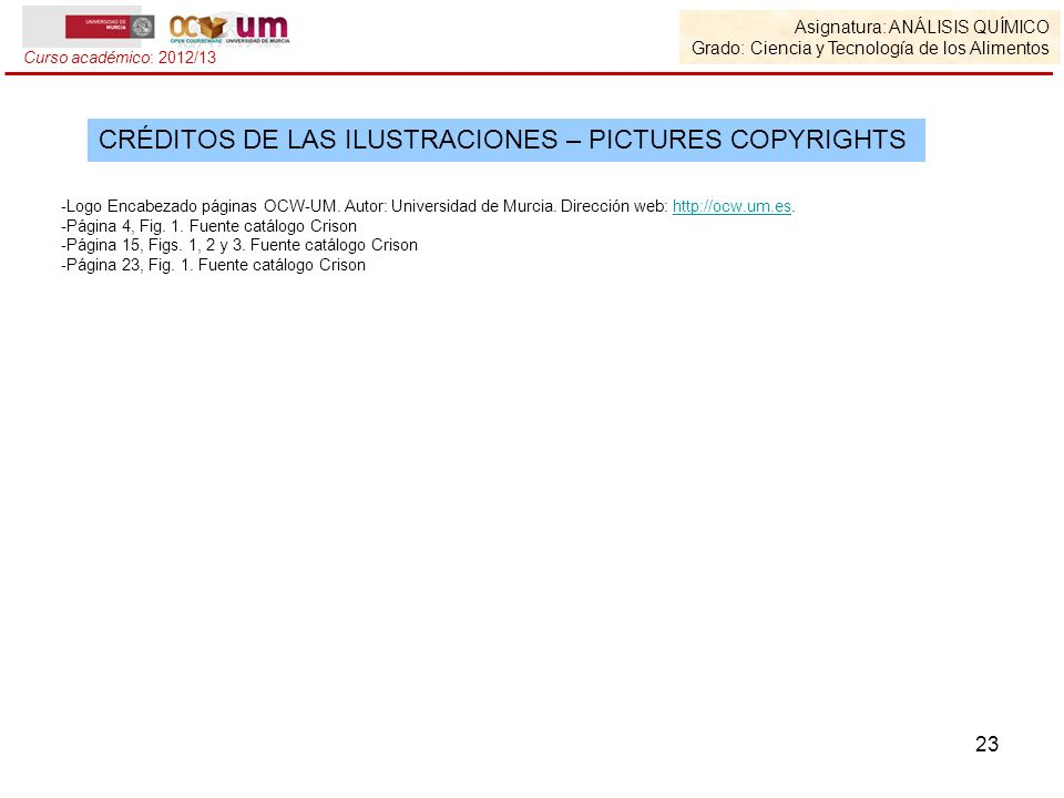 CRÉDITOS DE LAS ILUSTRACIONES – PICTURES COPYRIGHTS