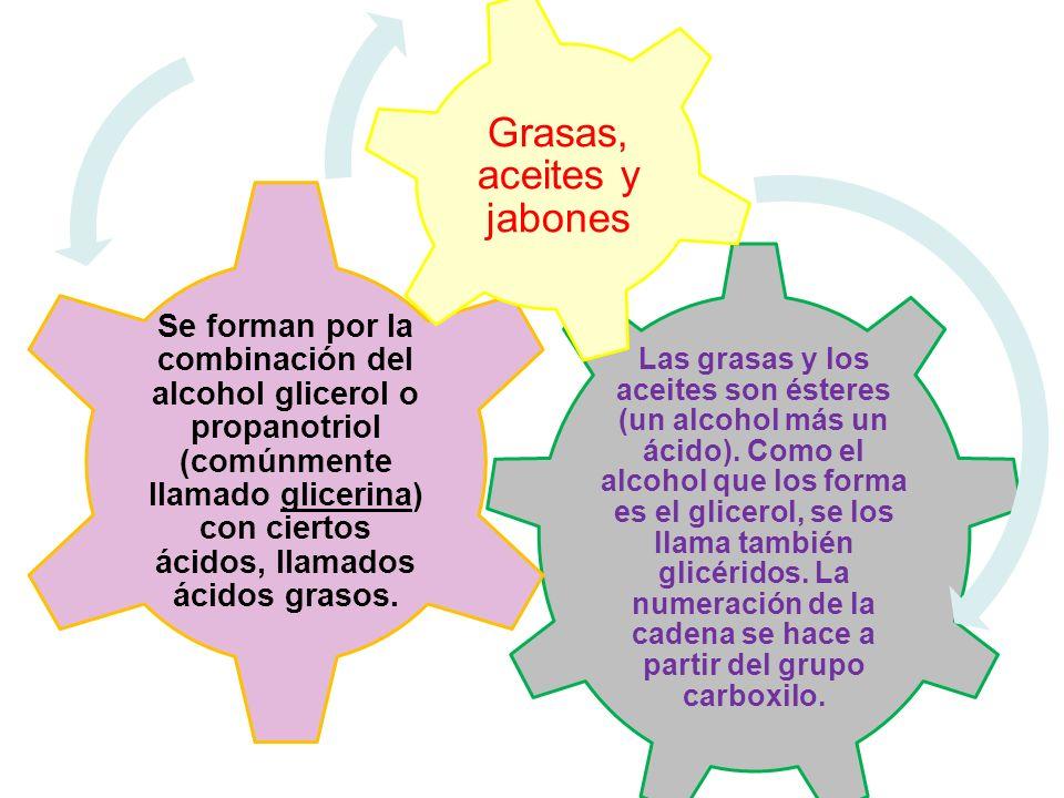 Grasas, aceites y jabones