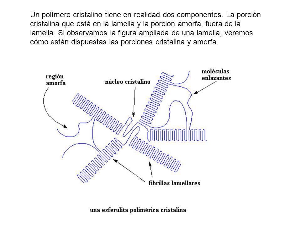 Un polímero cristalino tiene en realidad dos componentes