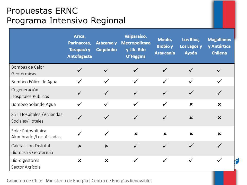 Propuestas ERNC Programa Intensivo Regional