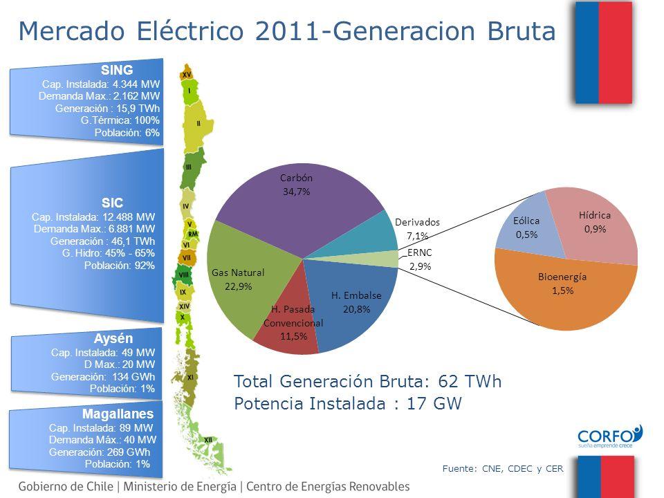 Mercado Eléctrico 2011-Generacion Bruta