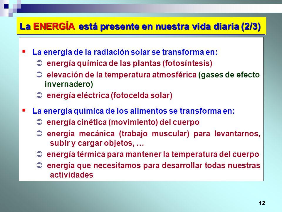 La ENERGÍA está presente en nuestra vida diaria (2/3)