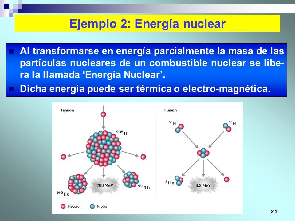 Ejemplo 2: Energía nuclear