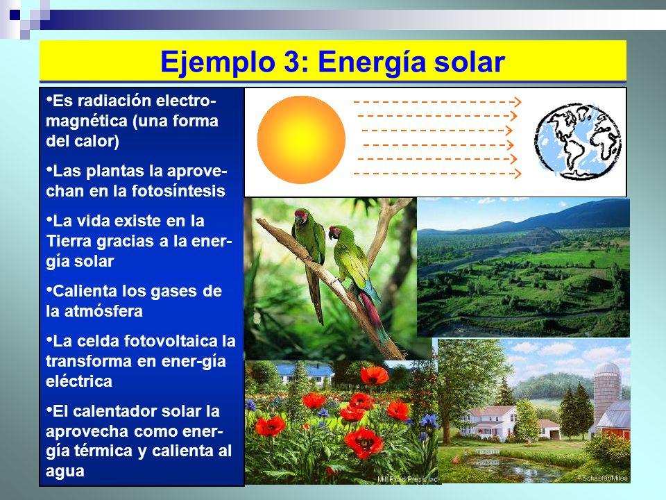 Ejemplo 3: Energía solar
